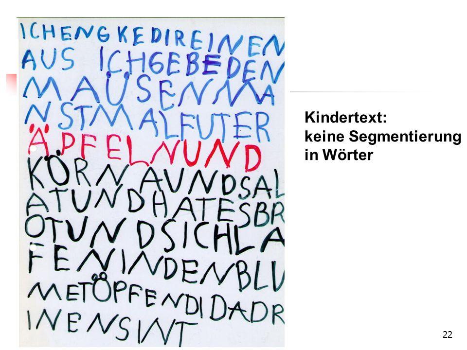 (keine) Segmentierung in Wörter in frühen Texten