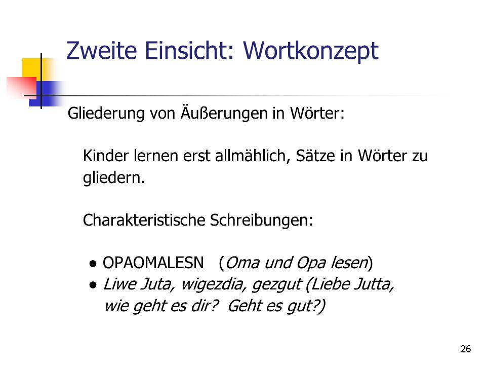 """Dritte Einsicht Phonemanalyse (""""Lautanalyse )."""
