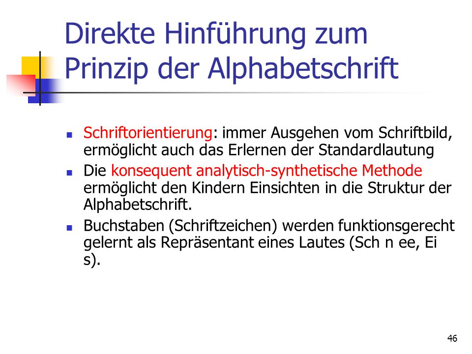 Analytisch-synthetische Methode
