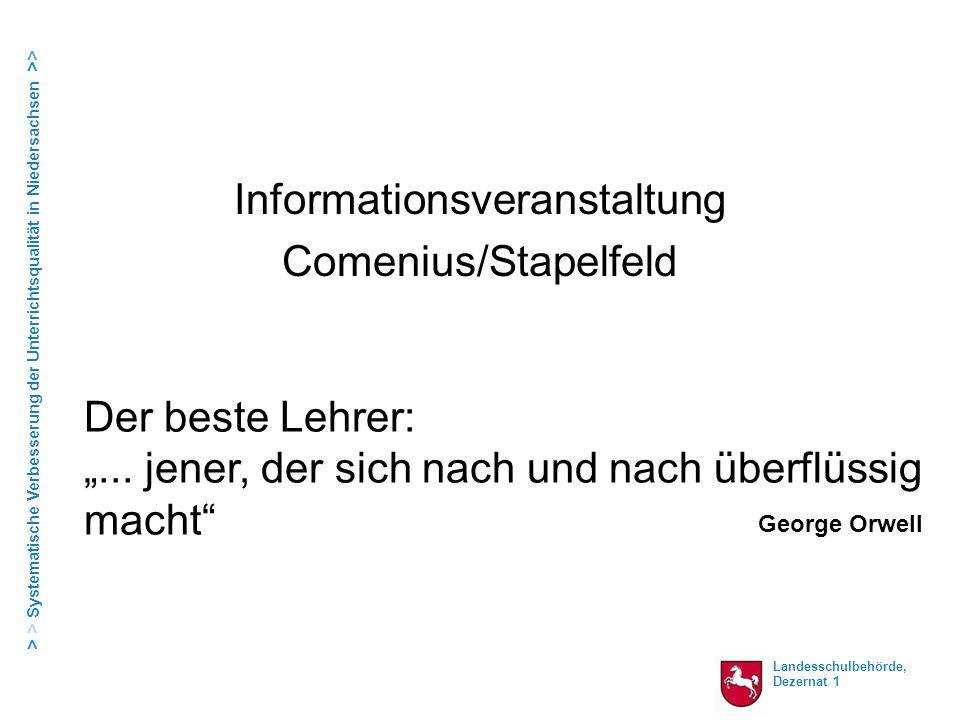 Informationsveranstaltung Comenius/Stapelfeld