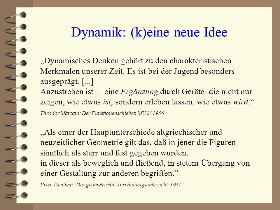 Dynamik: (k)eine neue Idee