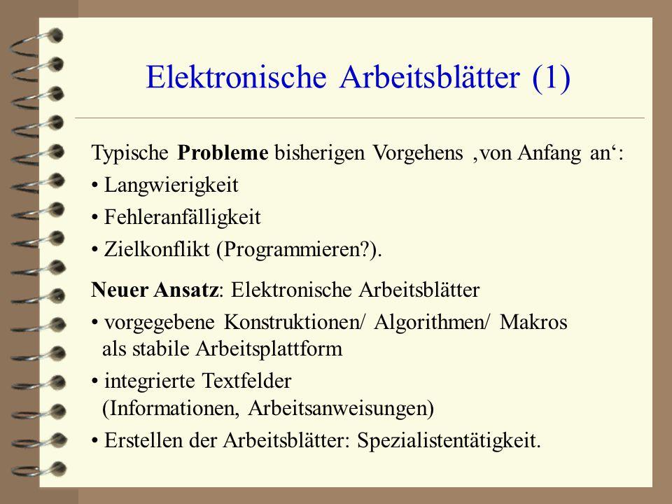 Elektronische Arbeitsblätter (1)