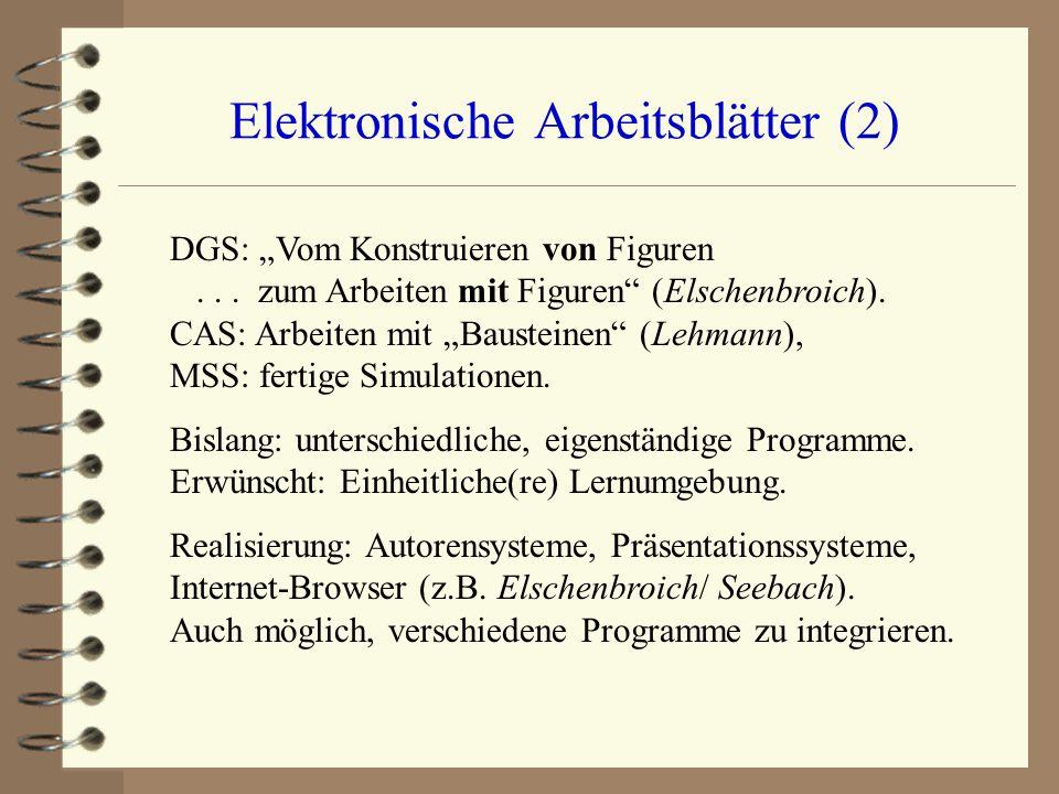 Elektronische Arbeitsblätter (2)