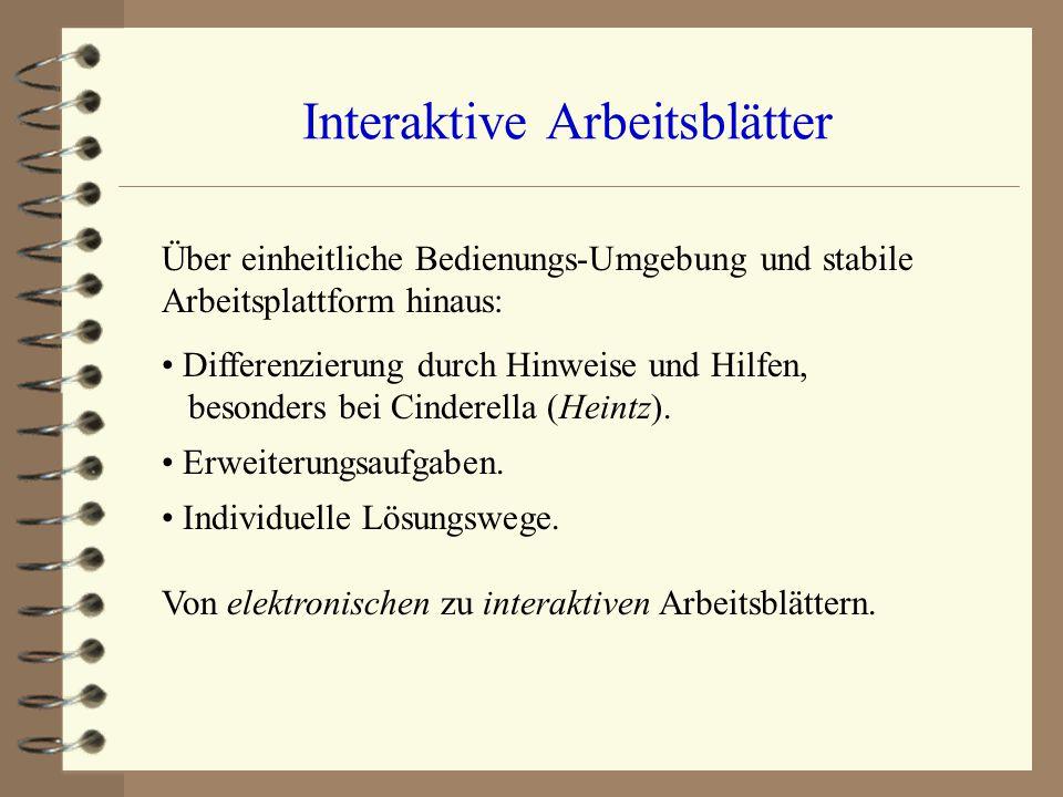 Interaktive Arbeitsblätter