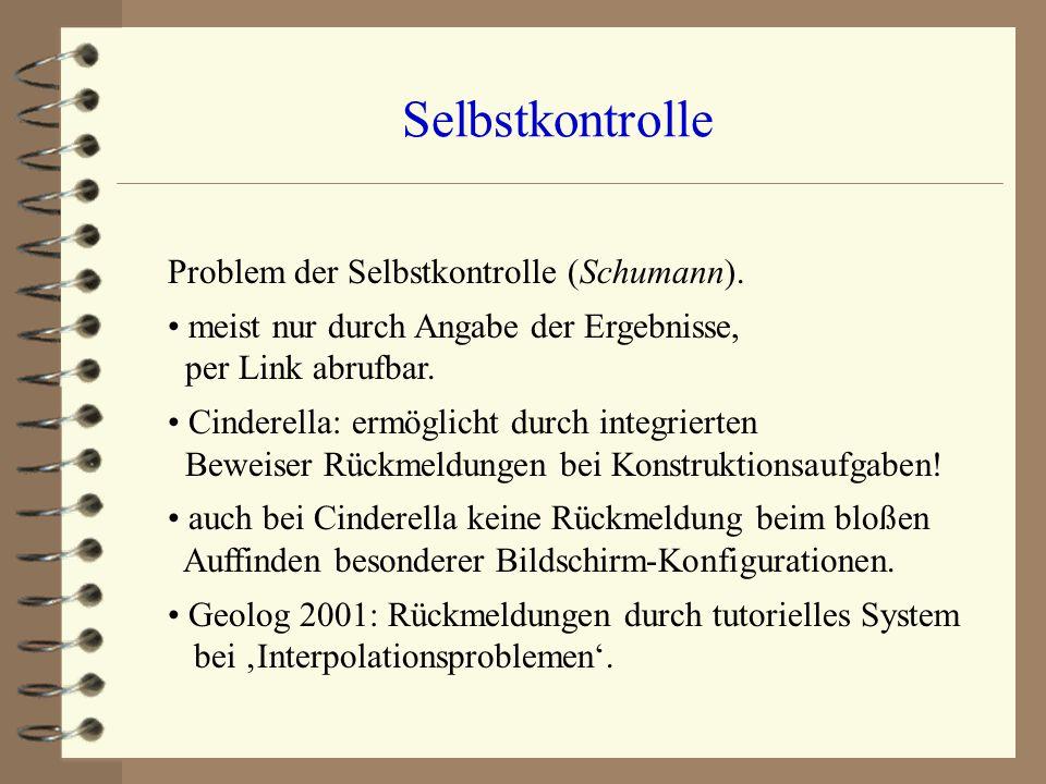 Selbstkontrolle Problem der Selbstkontrolle (Schumann).