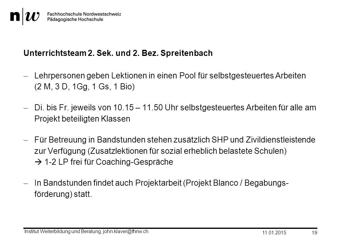 Unterrichtsteam 2. Sek. und 2. Bez. Spreitenbach