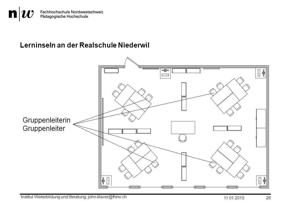 Lerninseln an der Realschule Niederwil