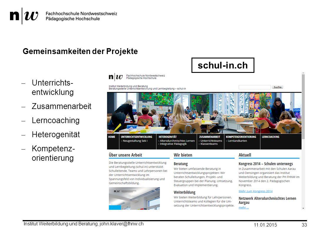 Gemeinsamkeiten der Projekte