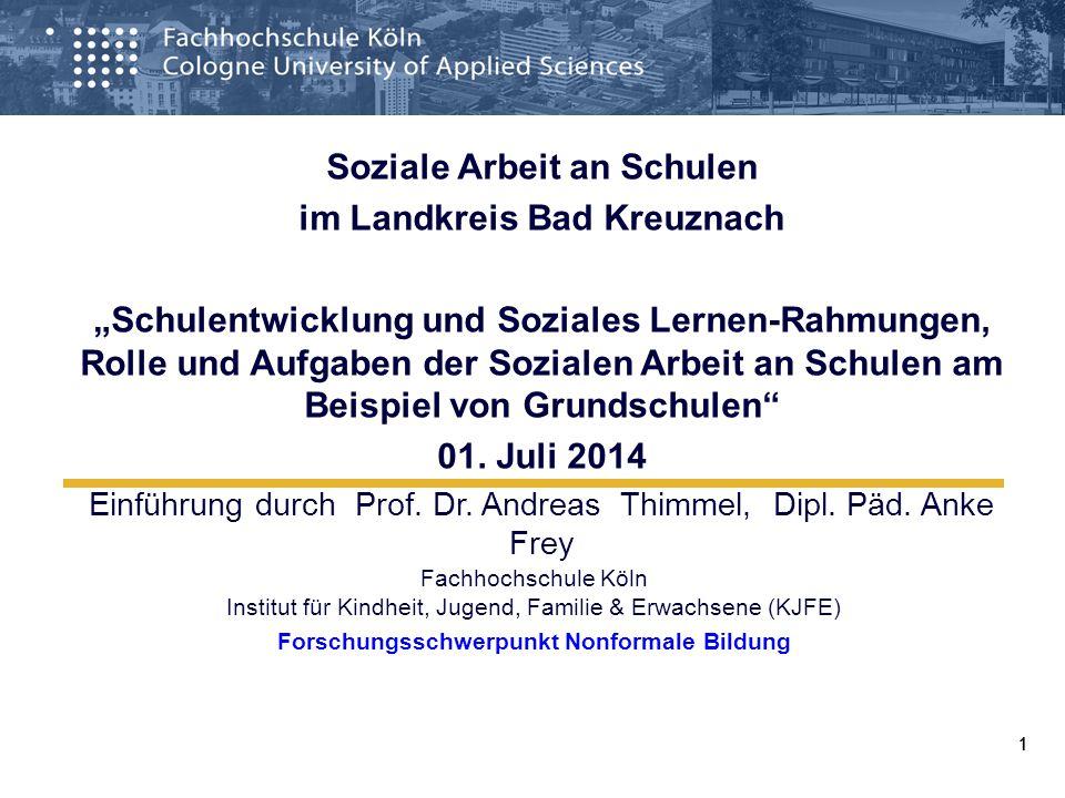 Soziale Arbeit an Schulen im Landkreis Bad Kreuznach