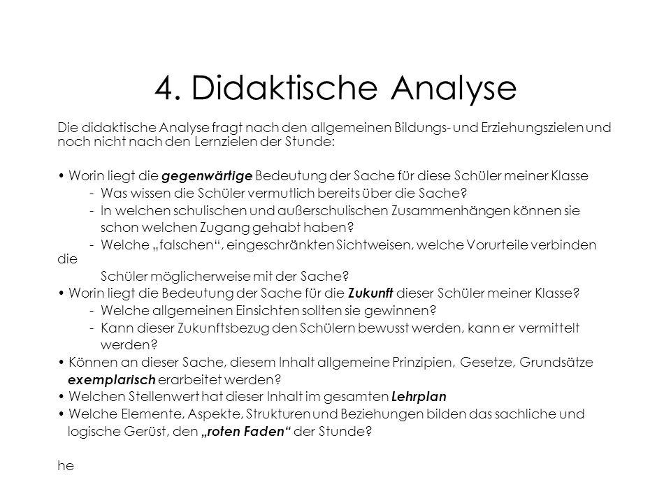 4. Didaktische Analyse