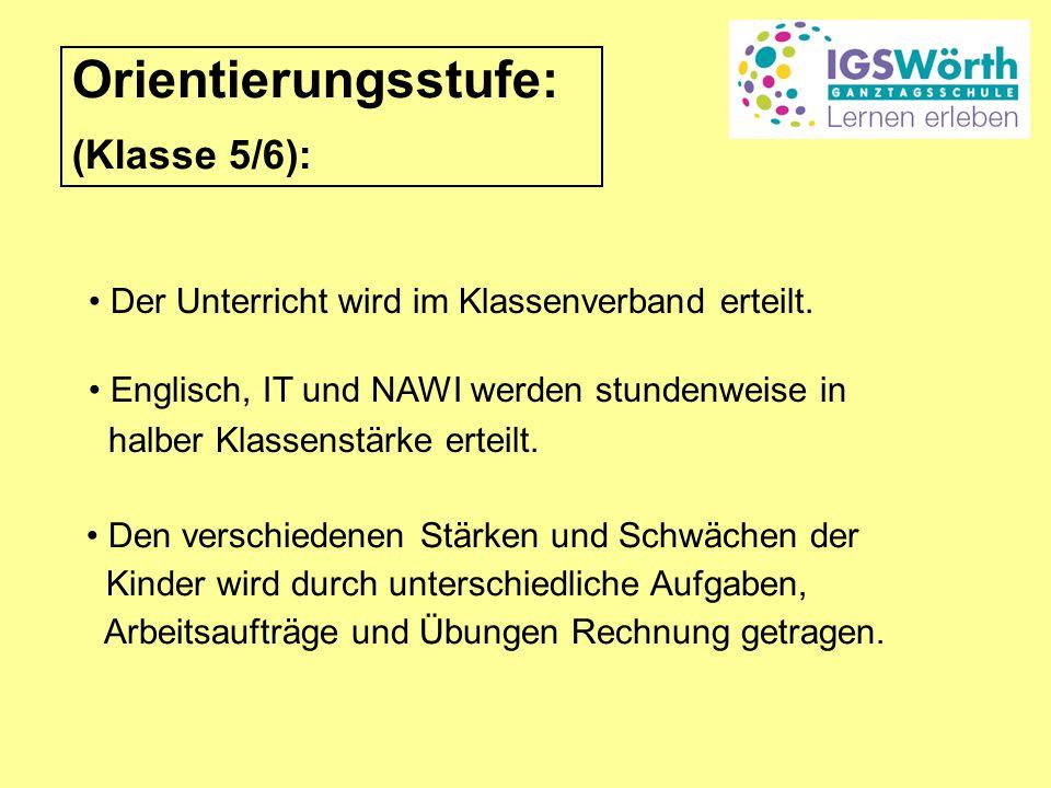 Orientierungsstufe: (Klasse 5/6):
