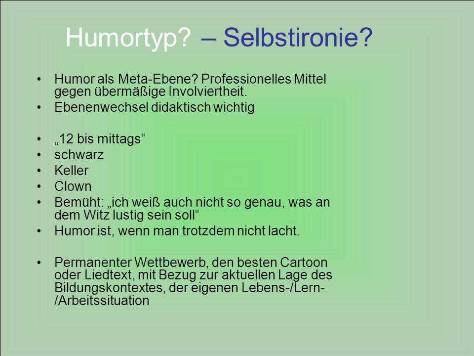 Humortyp – Selbstironie