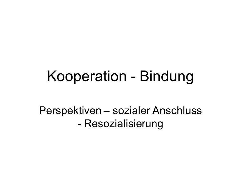 Perspektiven – sozialer Anschluss - Resozialisierung