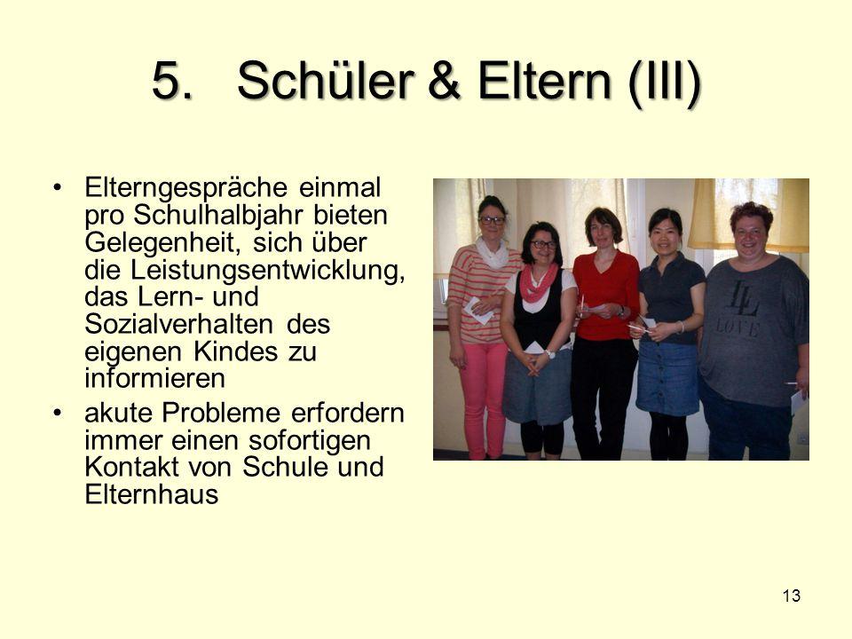 5. Schüler & Eltern (III)