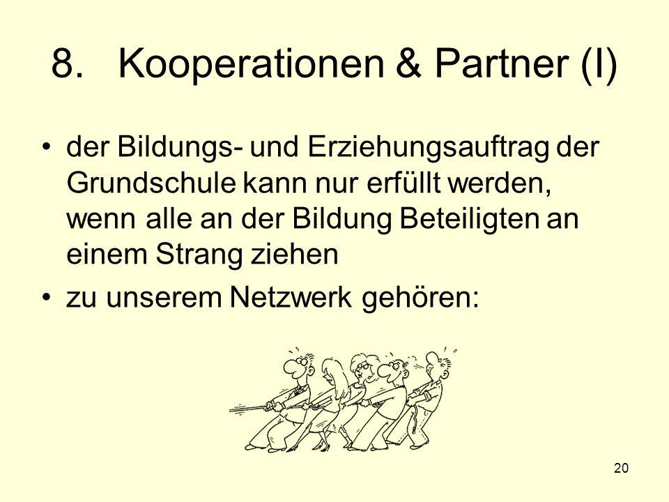 8. Kooperationen & Partner (I)