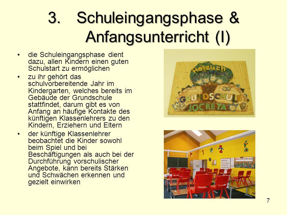 3. Schuleingangsphase & Anfangsunterricht (I)