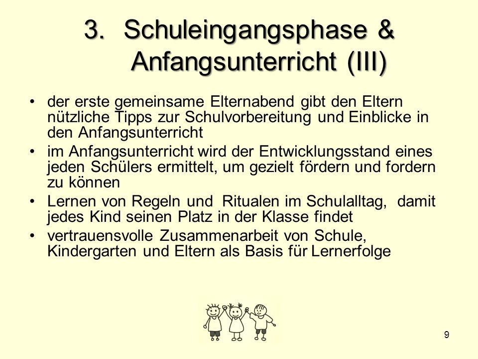 Schuleingangsphase & Anfangsunterricht (III)