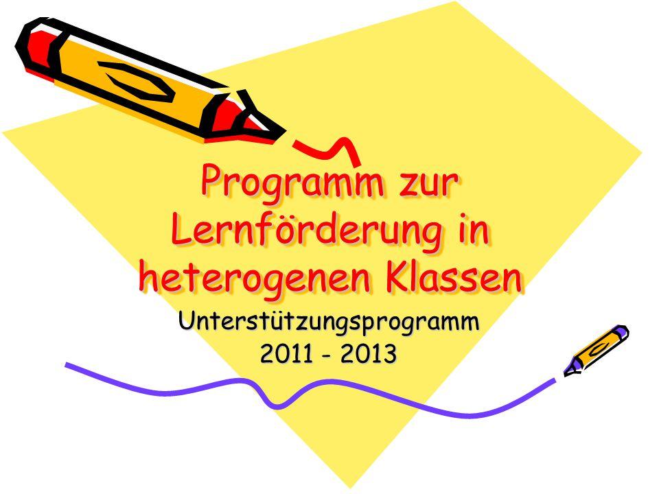 Programm zur Lernförderung in heterogenen Klassen