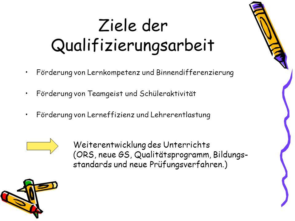 Ziele der Qualifizierungsarbeit