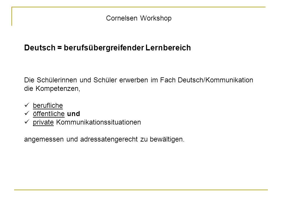 Deutsch = berufsübergreifender Lernbereich
