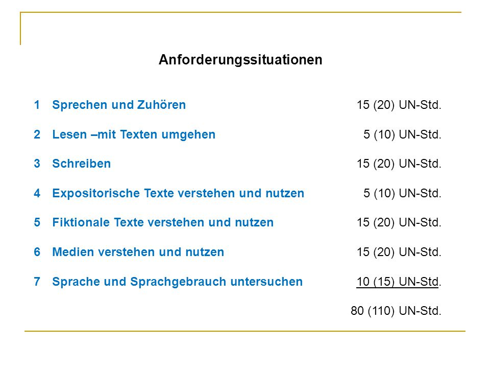 Anforderungssituationen