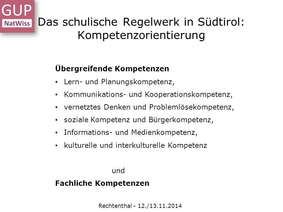 Das schulische Regelwerk in Südtirol: Kompetenzorientierung
