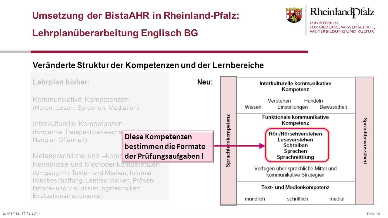 Umsetzung der BistaAHR in Rheinland-Pfalz:
