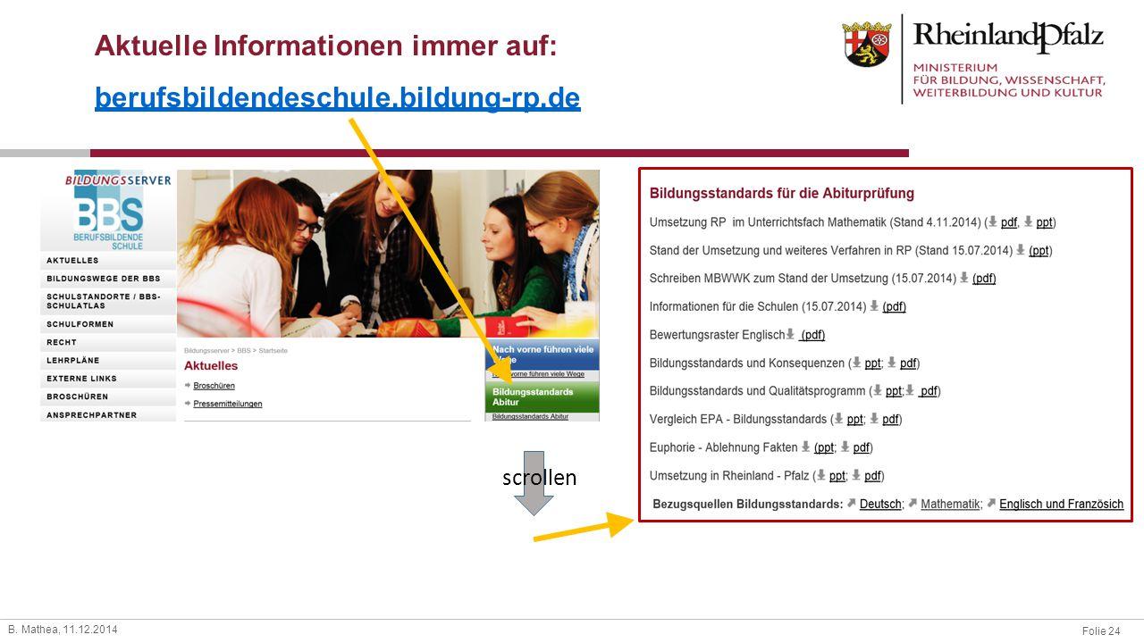 Aktuelle Informationen immer auf: berufsbildendeschule.bildung-rp.de