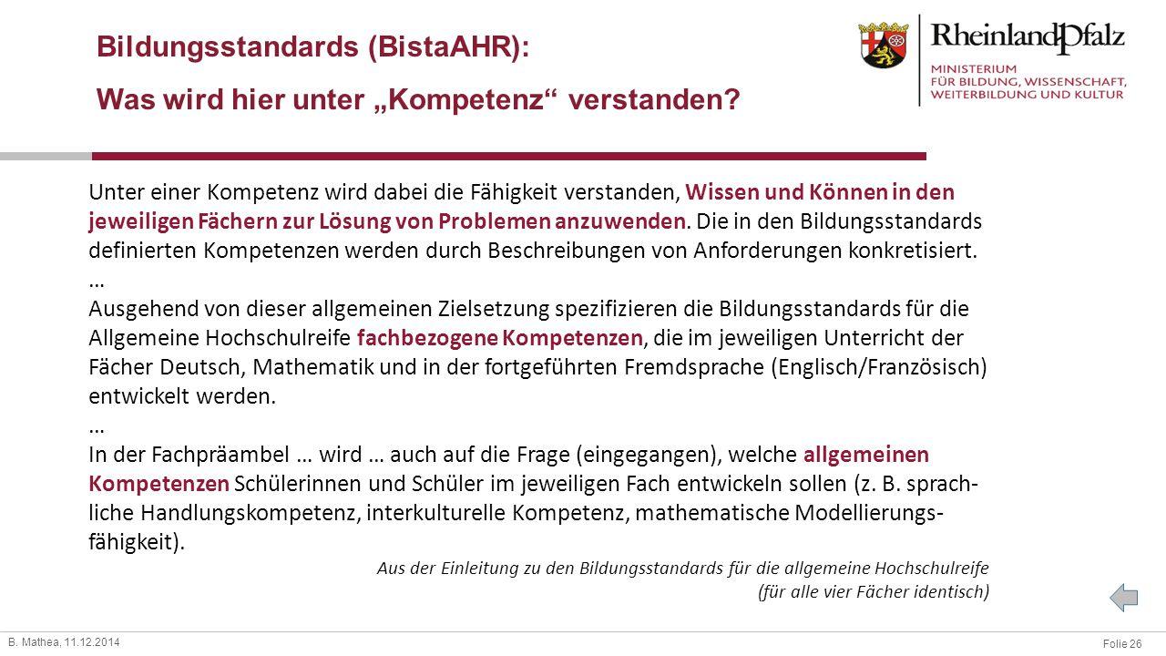 Bildungsstandards (BistaAHR):