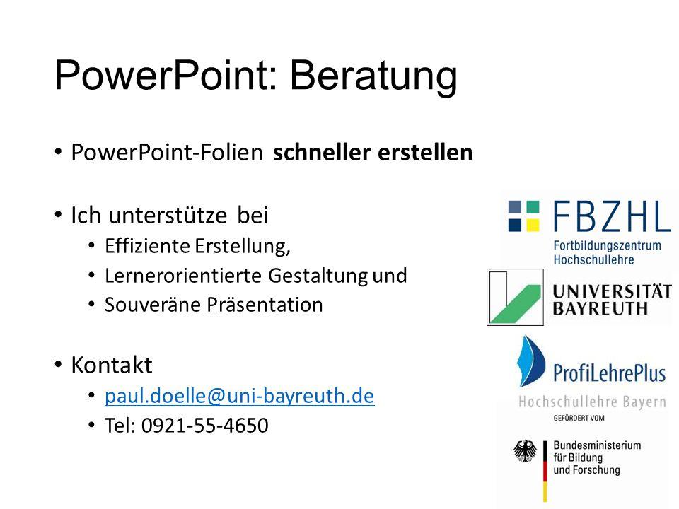 PowerPoint: Beratung PowerPoint-Folien schneller erstellen