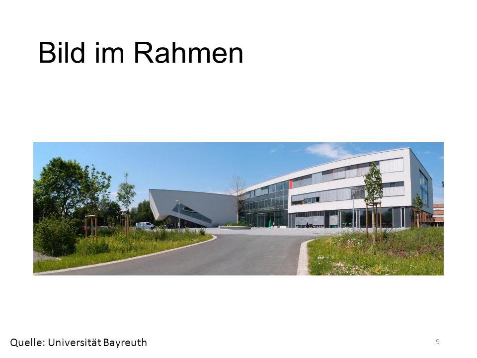 Bild im Rahmen Quelle: Universität Bayreuth