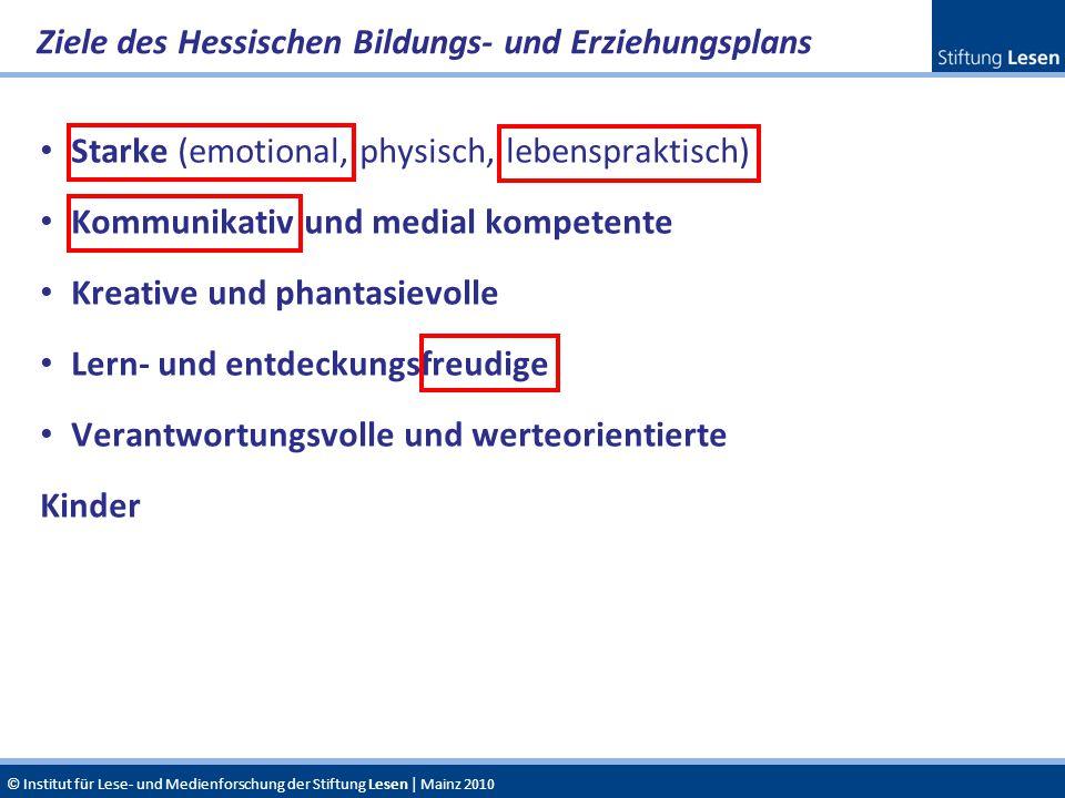Ziele des Hessischen Bildungs- und Erziehungsplans