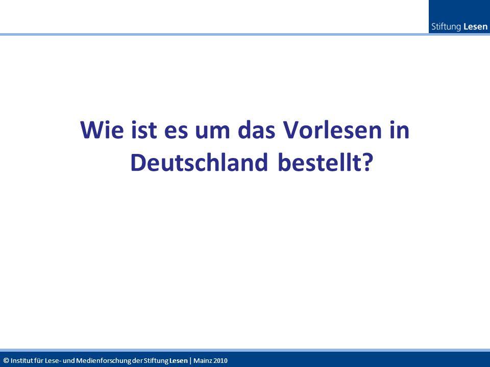 Wie ist es um das Vorlesen in Deutschland bestellt