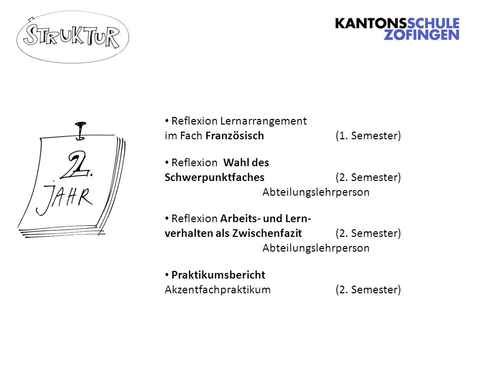 Reflexion Lernarrangement im Fach Französisch (1. Semester)