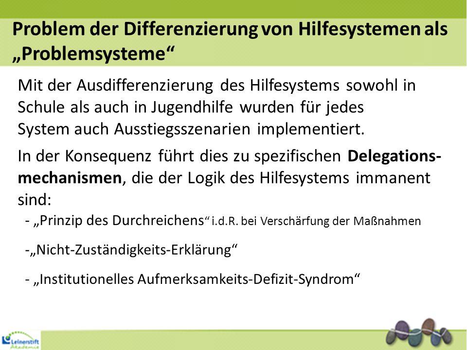 """Problem der Differenzierung von Hilfesystemen als """"Problemsysteme"""