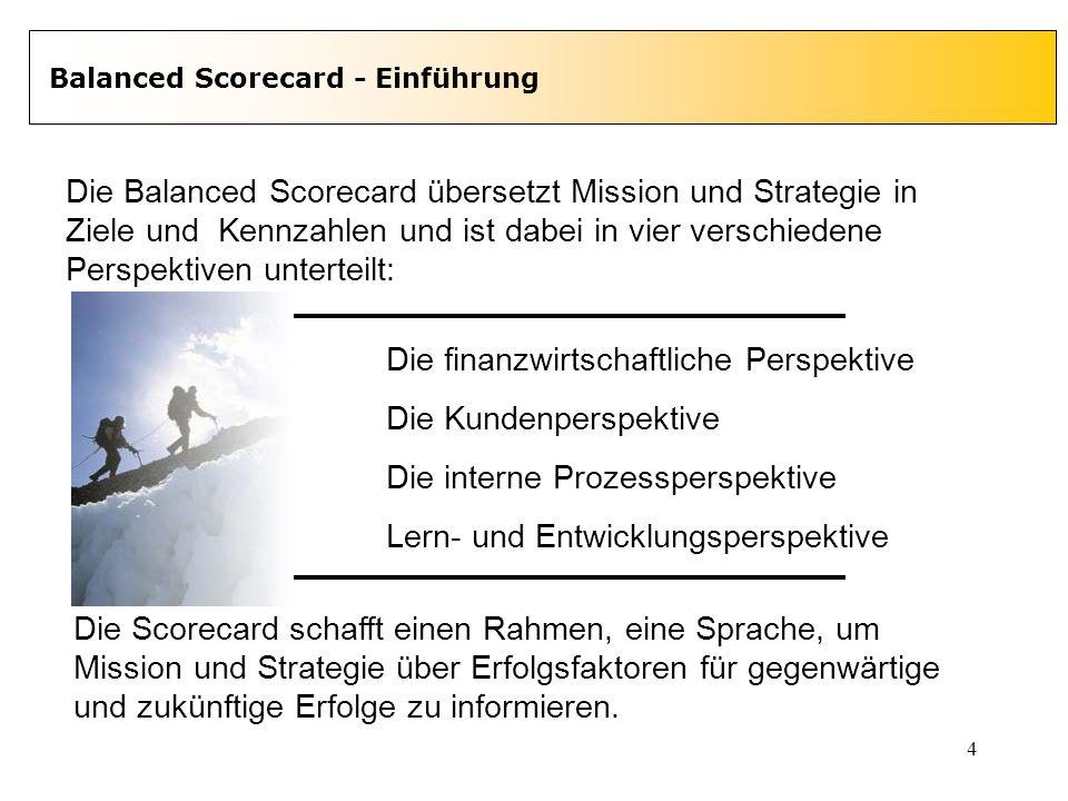Die Balanced Scorecard übersetzt Mission und Strategie in