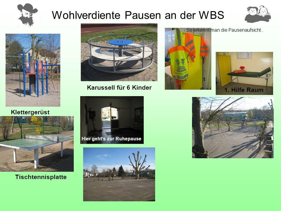 Wohlverdiente Pausen an der WBS