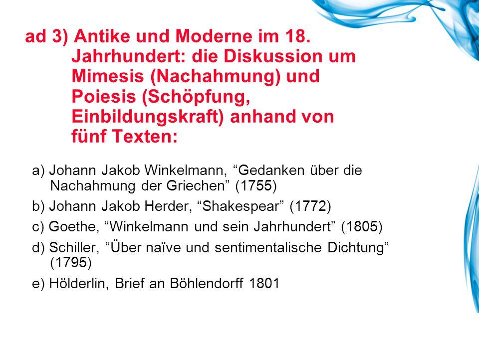 ad 3) Antike und Moderne im 18