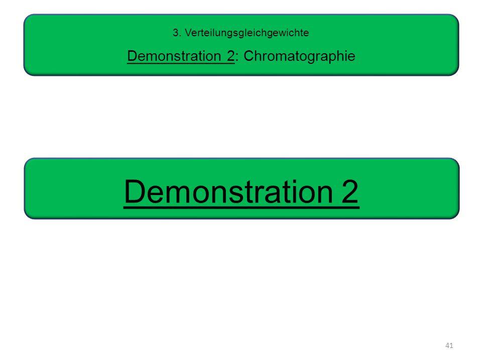 3. Verteilungsgleichgewichte Demonstration 2: Chromatographie