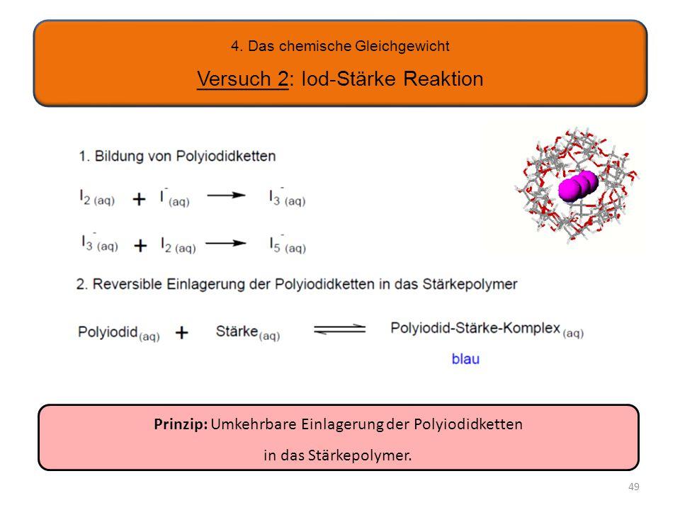 4. Das chemische Gleichgewicht Versuch 2: Iod-Stärke Reaktion