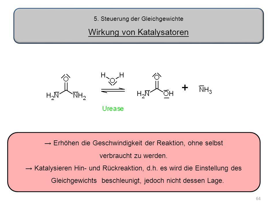 5. Steuerung der Gleichgewichte Wirkung von Katalysatoren