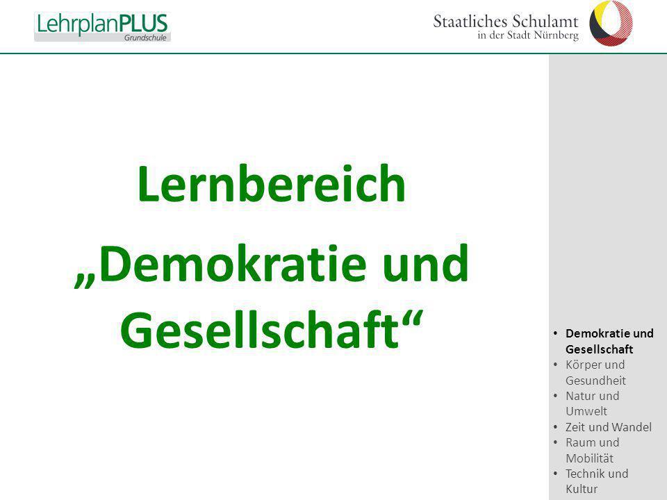 """Lernbereich """"Demokratie und Gesellschaft"""