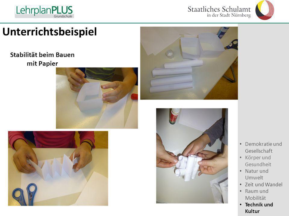 Stabilität beim Bauen mit Papier