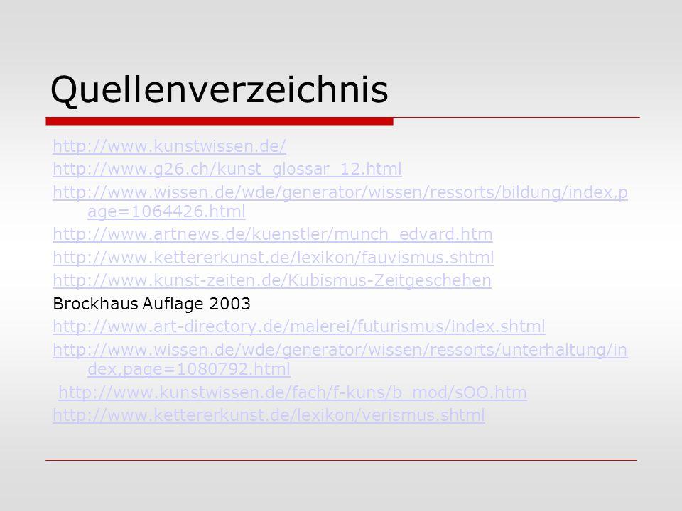 Quellenverzeichnis http://www.kunstwissen.de/