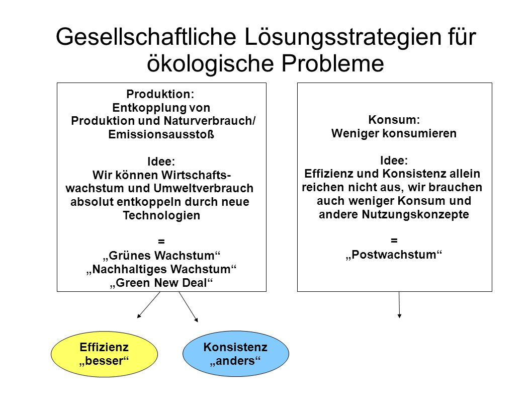 Gesellschaftliche Lösungsstrategien für ökologische Probleme