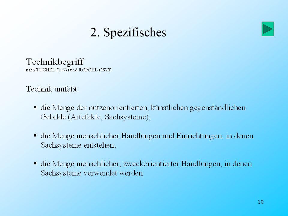 2. Spezifisches
