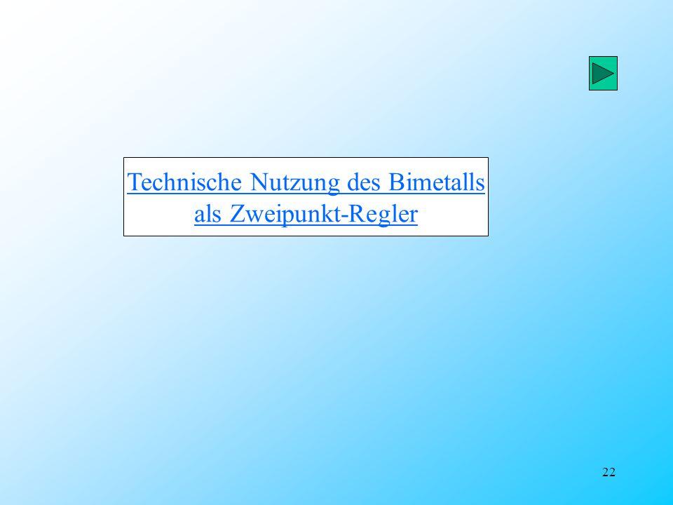 Technische Nutzung des Bimetalls