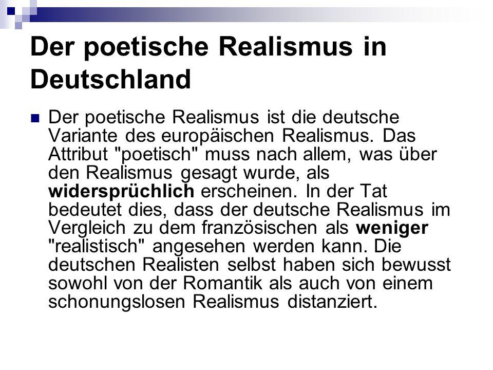 Der poetische Realismus in Deutschland