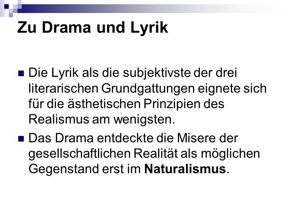 Zu Drama und Lyrik