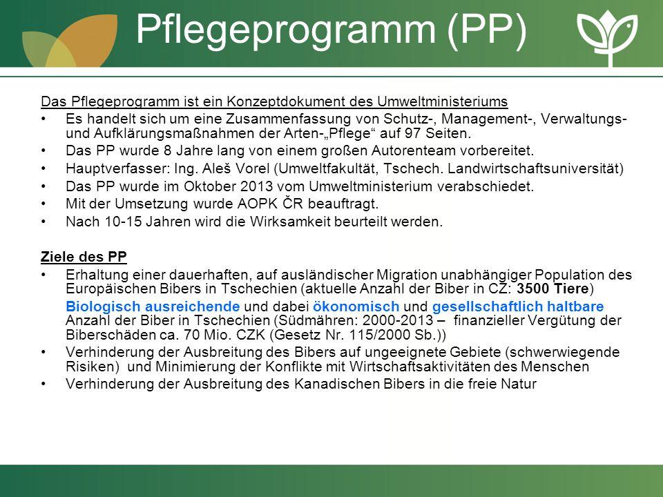 Pflegeprogramm (PP) Das Pflegeprogramm ist ein Konzeptdokument des Umweltministeriums.